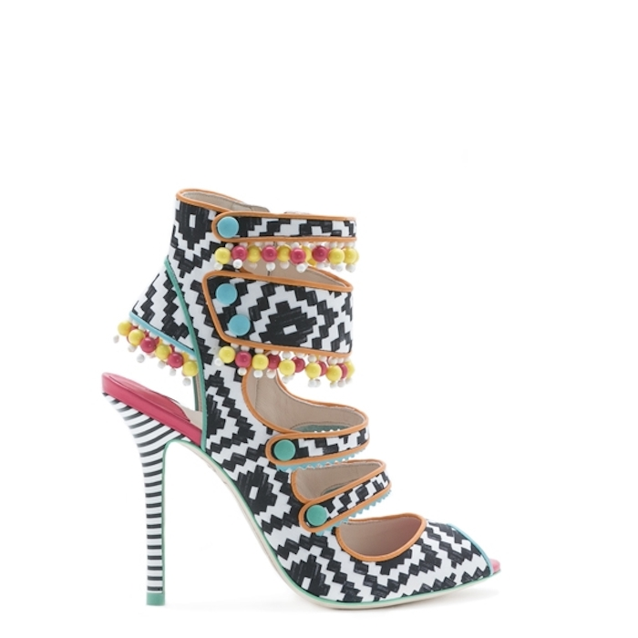 Sophia Webster Amma Aztec Black Sandal
